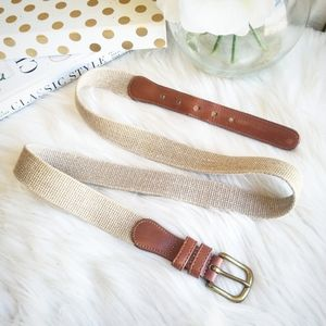 Coach leather and fabric belt